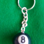 8 BALL KEY RING: